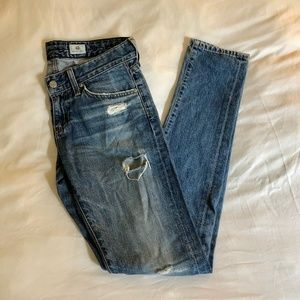 """AG Jeans """"THE NIKKI"""" Relaxed Distressed Jean, 25"""
